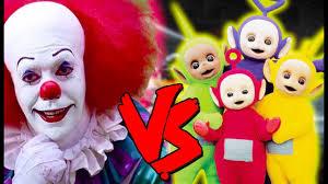Teletubby Halloween Costumes Pennywise Teletubbies Apocalypse Epic Battle Mortal Kombat