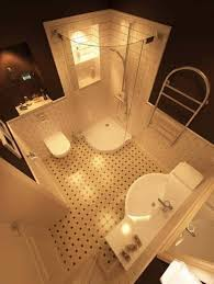 corner shower stalls for small bathrooms curved glass panel and