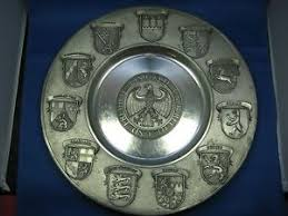 personalized pewter plate 12 5 antique sks germany engraved pewter plate 11 states with