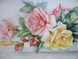 victorian roses water color painting omg chic pink roses in shabby