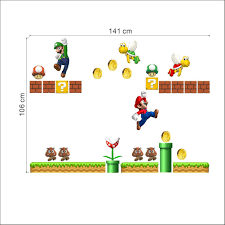 Decals For Kids Rooms Super Mario Bros Large Wall Sticker Vinyl Art Decal Lovely Kids