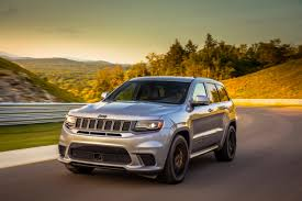 modified jeep cherokee 2018 jeep grand cherokee trackhawk first drive crazy good