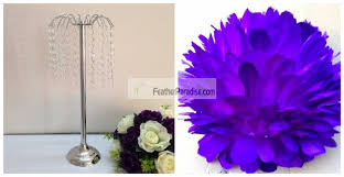 purple feather feather centerpieces wholesale flower stands wedding flower