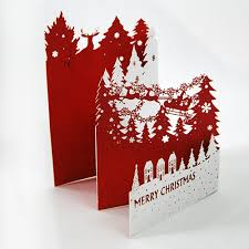 2016 popular laser cut 3d pop up paper baptism invitation card