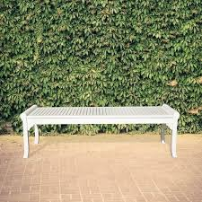 bradley eco friendly 5 foot backless outdoor white wood garden
