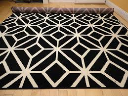 Modern Rug 8x10 Black Moroccan Trellis 8x11 Area Rug Carpet Abstract Large New
