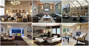 17 amazing living room interiors with stone walls