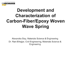 development and characterization of carbon fiber epoxy woven wave