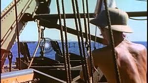How To Hoist A Flag A Signal Man Hoist Flags Aboard Lst 782 Off The Coast Of Iwo Jima