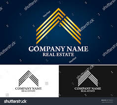 real estate building construction architecture logo stock vector