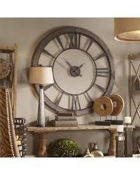large wall clock new savings on ronan rustic bronze large wall clock uttermost 06084