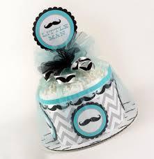 diaper cake baby gift baby shower gift mustache baby