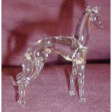 glass italian greyhound figurines clear kd ig rescue items