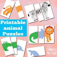 printable animal activities printable animal puzzles busy bag busy bags animal and bag