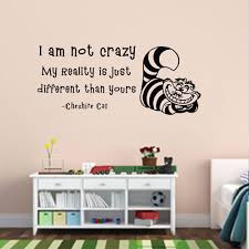 decal china picture more detailed about wall decals wall decals alice wonderland quote decal not crazy cheshire cat nursery sticker vinyl