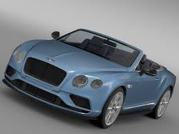 bentley continental 2017 bentley continental gt v8 s convertible 2017 3d model max obj 3ds