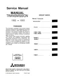 service manual transmission fwd mitsubishi manual clutch four