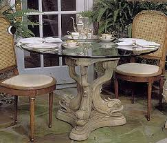 dolphin table with glass top dolphin triple dining table base nautical sea home decor dining