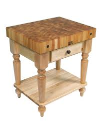 john boos cucina rustica butcher block table w shelf