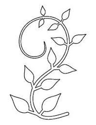 printable flower stem template stencils pinterest flower