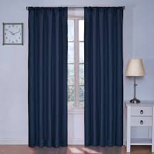 Blackout Thermal Curtains Eclipse Kids Kendall Blackout Thermal Curtain Panel Denim 84 Inch