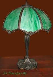 green glass l shade early 20th century vintage green glass table l as time goes by