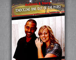magazine wedding programs baseball wedding day program sports theme favors ceremony