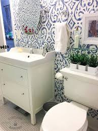 home improvement ideas bathroom blue white bathroom makeover hometalk