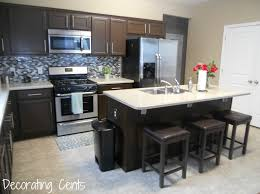 Black Painted Kitchen Cabinets Decorating Cents How To Painting The Kitchen Cabinets