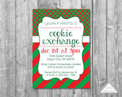 cookie exchange party invitation christmas cookie party