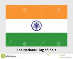 White Blue Orange Flag National Flag Of India Stock Vector Image Of Horizontal 75916062