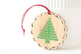 diy ornament kit bamboo cross stitch ornament