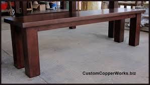 Farmhouse Benches For Dining Tables Rectangular Copper Dining Table Farmhouse Wood Table Base 1 14