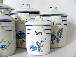 decorative canister sets kitchen french cafe ceramic canisters s 5 omero home