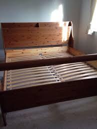Pine Sleigh Bed Frame Ikea Leksvik Solid Pine Kingsize Sleigh Bed Frame In