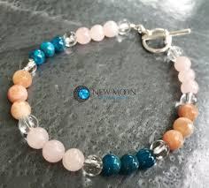 blue quartz bracelet images Self worth abundance motivation bracelet 6mm sunstone blue jpg