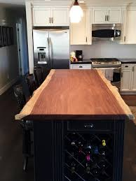 Kitchen Island Counters Exotic Parota Live Edge Kitchen Island Counter Craftsman