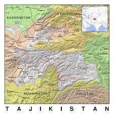 The World Political Map by Detailed Political Map Of Tajikistan With Relief Tajikistan