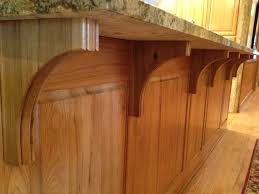 kitchen island brackets beaded traditional brackets in hickory make the kitchen