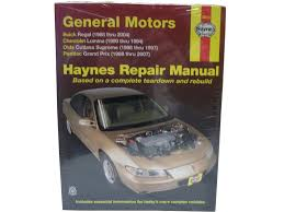 haynes repair manuals gm regal lumina grand prix cutlass