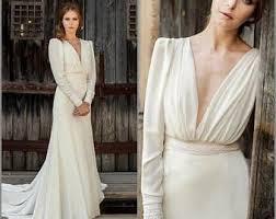 Wedding Dress Ivory Simple Wedding Dress Etsy