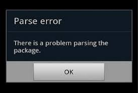 problem parsing apk fix there is a problem parsing the package error