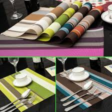 dining table cover pad 2018 wholesale 30 45cm pvc placemats dining tables place mats pad