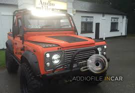 land rover defender autobiography land rover defender audio upgrades