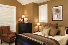 cream modern wall fun paint ideas for bedroom with warm table lamp