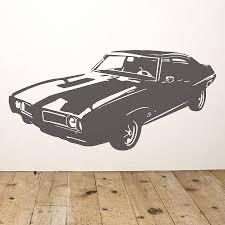 car wall stickers pontiac muscle car vinyl wall sticker