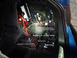 bmw e90 battery where is the battery in an f31 touring