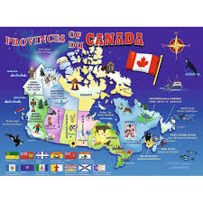 Edmonton Canada Map Map Of Canada 100 Piece Puzzle 4005556105694 Calendars Com