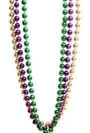 mardi gras beeds 60in purple green gold