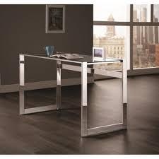 Contemporary Computer Desks Coaster Contemporary Computer Desk With Chrome Legs Coaster